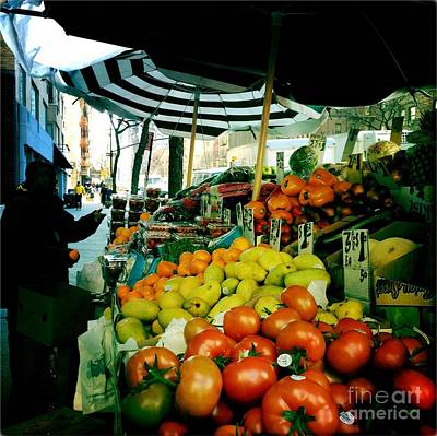 Photograph - Farmers Market With Umbrellas by Miriam Danar