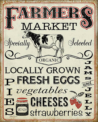 Digital Art - Farmers Organic Market by Jean Plout