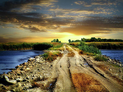 Photograph - Farmers Road 1 by William Tanata