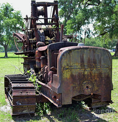 Photograph - Farmers Tractor Crane by D Hackett