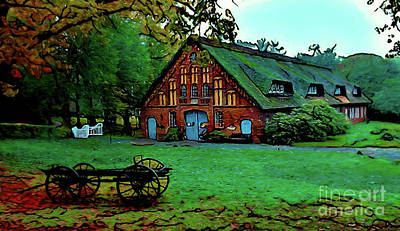 Photograph - Farmhouse 17118 by Ray Shrewsberry