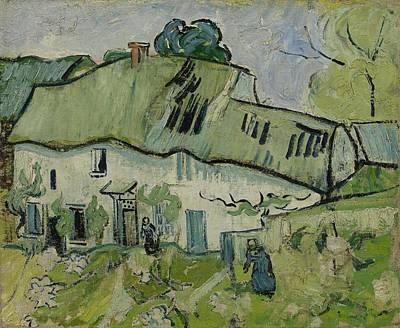 Painting - Farmhouse Auvers Sur Oise  May  June 1890 Vincent Van Gogh 1853  1890 by Artistic Panda