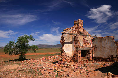 Farmhouse Cottage Ruin Flinders Ranges South Australia Art Print