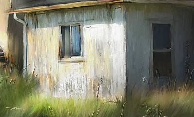 Farmhouse Detail Port Albert Ontario Art Print by Bob Salo