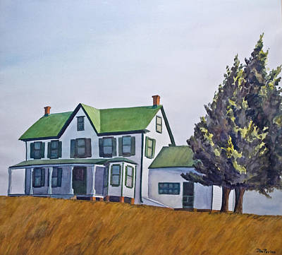 Painting - Farmhouse by Don Perino