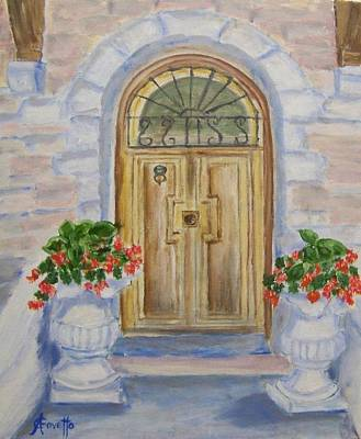 Stonewall Painting - Farmhouse Door by Anne-Christine GOVETTO