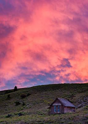 Photograph - Farmhouse Glow by Michael Blanchette