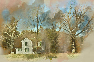 Digital Art - Farmhouse - Gordonsville Va by Paulette B Wright