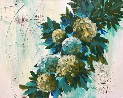 Painting - Farmhouse Hydrangeas II by Laura Cottrell