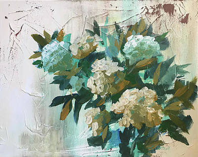 Painting - Farmhouse Hydrangeas by Laura Cottrell