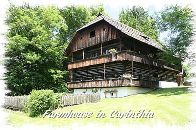 Farmhouse Photograph - Farmhouse In Carinthia by Ha Ko