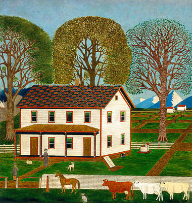 Cattle Dog Painting - Farmhouse In Mahantango Valley by Mountain Dreams