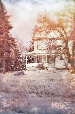 Photograph - Farmhouse In Snow by Jill Battaglia