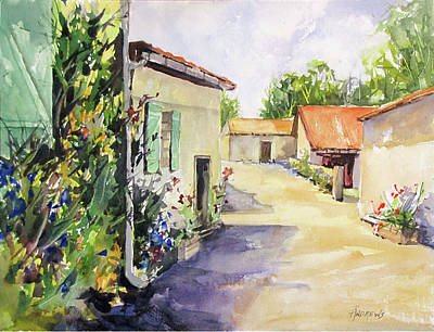 Painting - Farmhouse In Southwest France by Rae Andrews