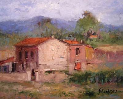Italy Farmhouse Painting - Farmhouse In Tuscany by R W Goetting