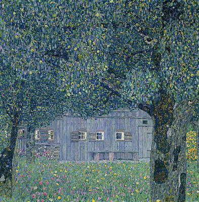 Painting - Farmhouse In Upper Austria by Gustav Klimt