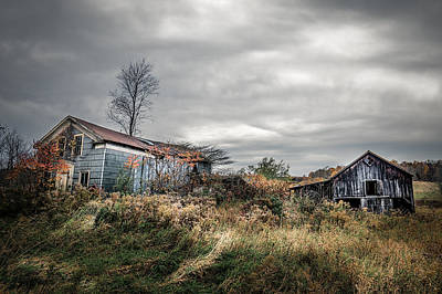 Photograph - Farmhouse Memories by Chris Bordeleau