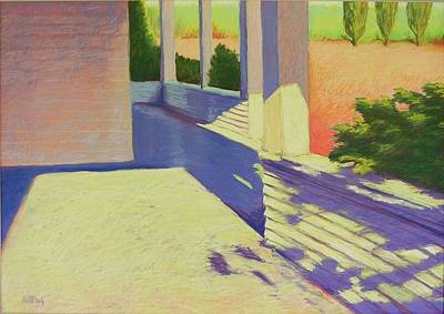 Farmhouse Porch Print by Mary McInnis