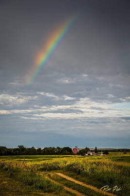Photograph - Farmhouse Rainbow by Rikk Flohr
