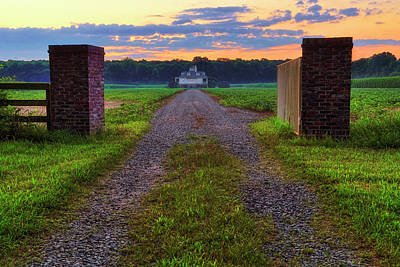 Photograph - Farmhouse Sunrise - Arkansas - Landscape by Jason Politte