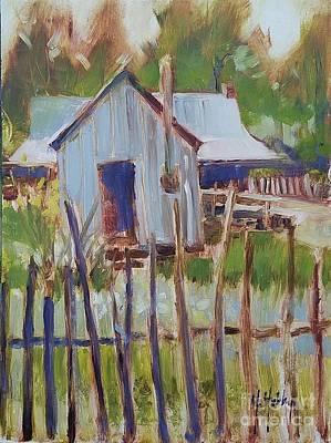 Painting - Farmhouse Whidden-clark Homestead by Mary Hubley