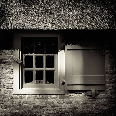 Sepia Vintage Farmhouse Photograph - Farmhouse Window by Dave Bowman