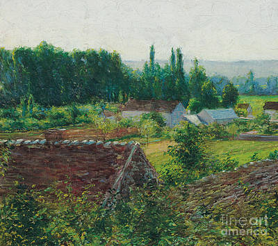 Painting - Farmhouses In Giverny by John Leslie Breck