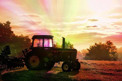 Farming Good Morning John Deere Rainbow Print by Thomas Woolworth