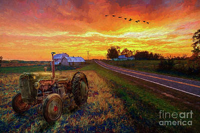 Painting - Farming - Hard Work And Soft Beauty Ap by Dan Carmichael