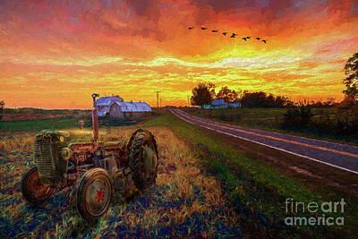 Painting - Farming - Hard Work And Soft Beauty Ap by Dan Carmichael