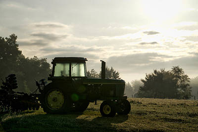 Machine Quilt Photograph - Farming John Deere 4430 by Thomas Woolworth