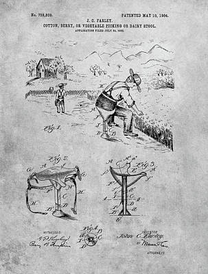 Drawing - Farming Stool by Dan Sproul