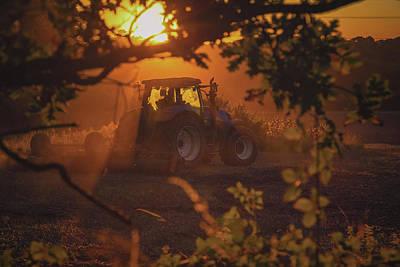 Farming 'till Sundown Art Print by Chris Fletcher
