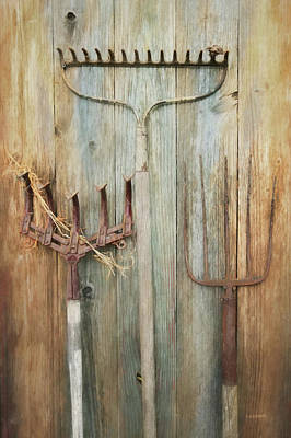 Pitch Forks Photograph - Farming Tools by Lori Deiter