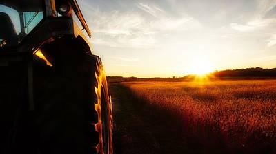 Farming Until Sunset Art Print