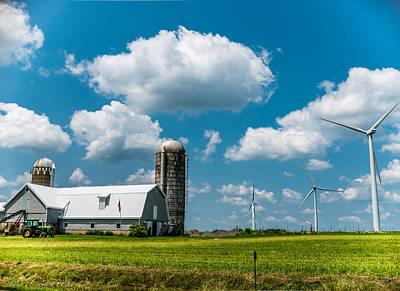 Farming Usa Art Print by Carlos Ruiz