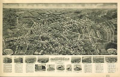 Long Island Drawing - Farmingdale, Nassau County, Long Island, N.y. 1925 by Baltzgar