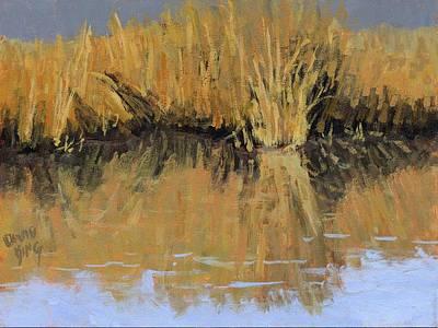 Painting - Farmington Bay Reeds by David King