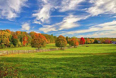 Photograph - Farmland In Sherborn Massachusetts by Juergen Roth