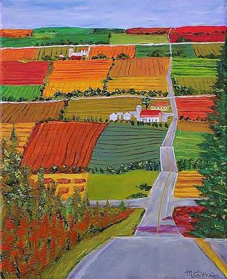Painting - Country Farmland Quilt by Mike Caitham