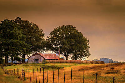 Photograph - Farmland Morning by Barry Jones