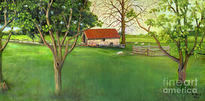 Painting - Farmland Scene by Marlene Book