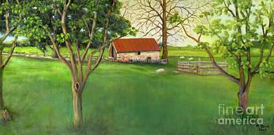 Painting - Farmland Scene by Marlene Book