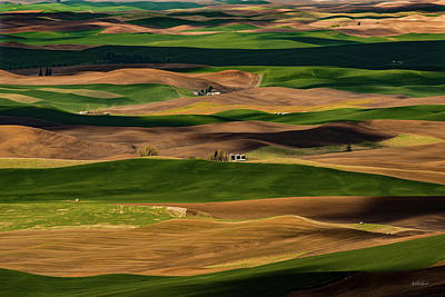 Photograph - Farmland Textures Palouse by Leland D Howard