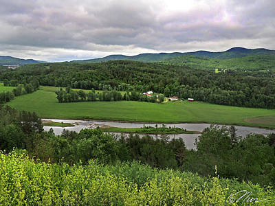 Photograph - Farmland View Over The Connecticut River  by Nancy Griswold