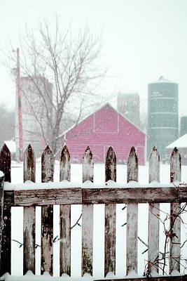 Photograph - Farmline Christmas by Troy Stapek