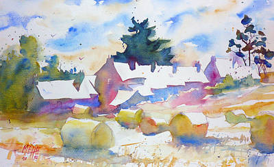 Farms   Isle Of Groix   Brittany Art Print by Andre MEHU