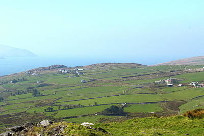 Photograph - Farms Along The Kerry Coast by Marie Leslie