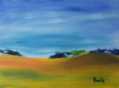 Painting - Farms And Rolling Hills  by Steve Jorde