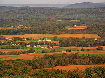 Photograph - Farms Below The Pa At 2 by Raymond Salani III